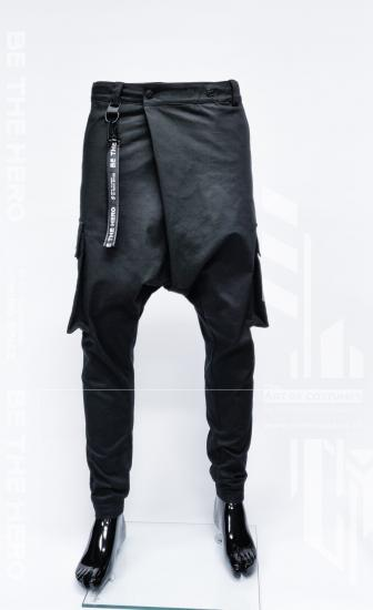mimo-space-men-samurai-black-stretch-basic-pants-be-the-hero-1